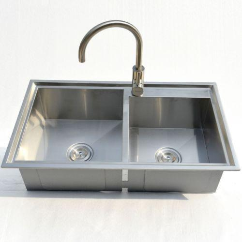 kitchen stainless steel sink stainless steel kitchen sink topmount ebay 6124