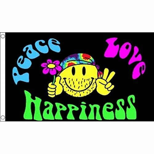 Cheap 3'x5' Peace And Love Happiness Flag Festival Polyester