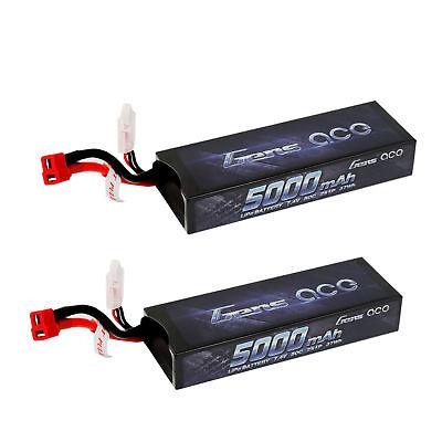 2 Gens ace 5000mAh 7.4 50C 2S1p Lipo Battery VENOM TURNIGY TRAXXAS Slash LECTRON