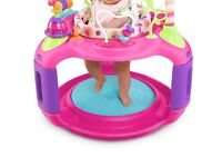 Pink baby play gym