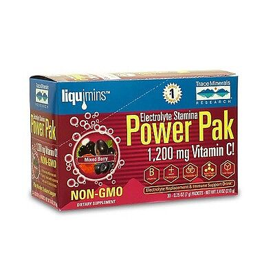 Trace Mineral Research Electrolyte Stamina Power Pak Mixed Berry 30 -