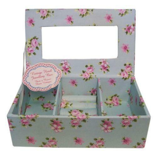 shabby chic jewellery box ebay. Black Bedroom Furniture Sets. Home Design Ideas