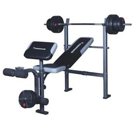 Weight bench with over 300kg of cast iron weights!