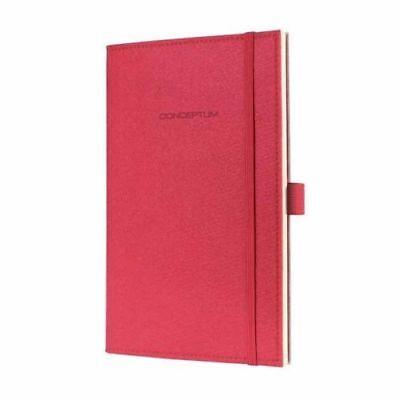 CONCEPTUM Sigel Notebook, Design Felt Soft Red Cover, Lined, CO 583 135 x 202mm