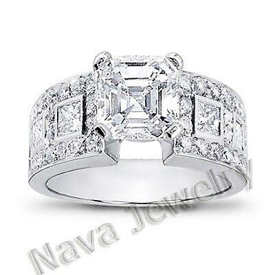 2.78 Ct. Asscher Cut Diamond Engagement Ring VS1-F GIA Certified