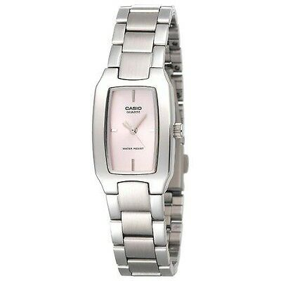 Casio LTP1165A-4C,  Women's Silvertone Bracelet Metal Watch, Pink Dial