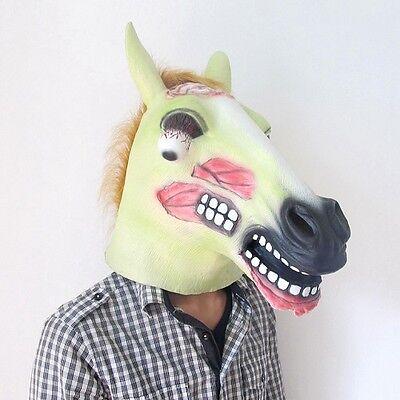 Horse Head Halloween Costumes (Horror Scary Zombie Horse Head Mask for Halloween Cosplay Costume)