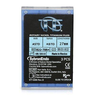 Sybron Endo Nickel Titanium Twisted Files Anterior Asst 27mm 3pk Kr 822-7864