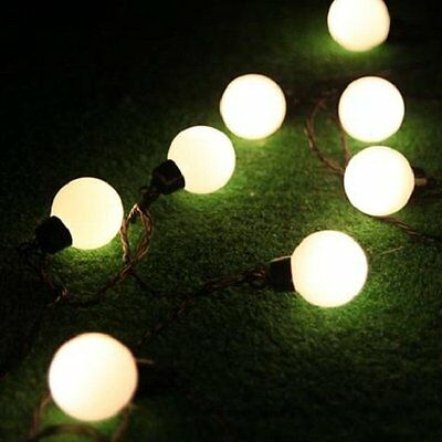 LED Lichterkette mit 50 Kugeln warmweiß Partylichterkette Gartenbeleuchtung TOP