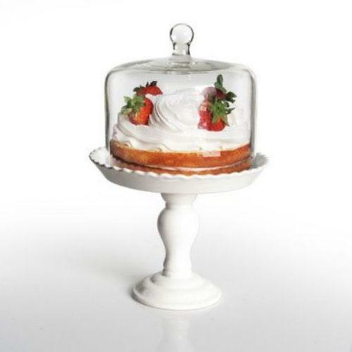 Cake Plate With Dome No Stand