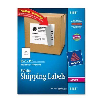 Avery Easy Peel Mailing Label - 8.50 Width X 11 Length - 100 Box - 5165