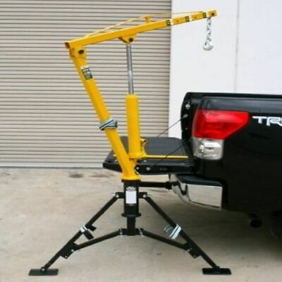Hydraulic Receiver Hitch Mounted Crane Portable Pickup Truck Lift Push 1000 Lb.