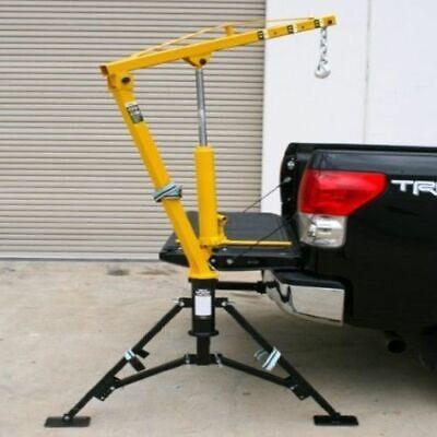 Hydraulic Receiver Hitch Mounted Crane Portable Pickup Truck Lift Push 1000 Lb.