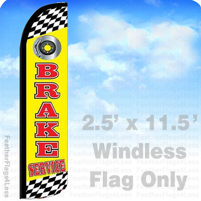 Brake Service Windless Swooper Flag Feather Banner Sign 2.5x11.5 Yz