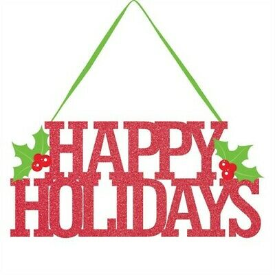 Happy Holidays Glitter Sign Christmas Winter Decoration Happy Holidays Glitter Sign