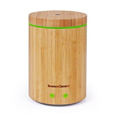 Upgraded Real Bamboo Essential Oil Diffuser Ultrasonic Aroma