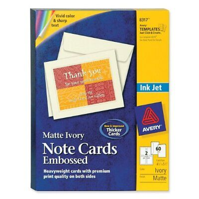 "Avery Note Card - For Inkjet Print - 5.50"" X 4.25"" - Matte - 60 / Box - Ivory"