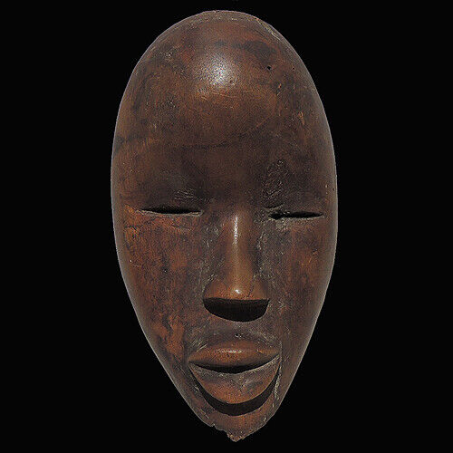 an old authentic antique african passport mask dan tribe from Ivory Coast #11