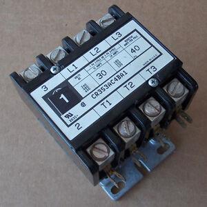 ge cr353ac4ba1 magnetic contactor 4 pole 30 amp 120v coil used. Black Bedroom Furniture Sets. Home Design Ideas