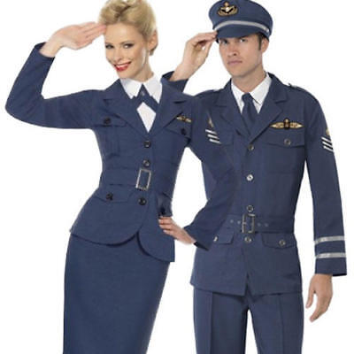 RAF Air Force Female Captain Ladies Fancy Dress 1940s 30s Uniform Costume Outfit