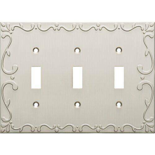 Classic Lace 3-Gang Toggle Light Switch Wall Plate Satan Nic
