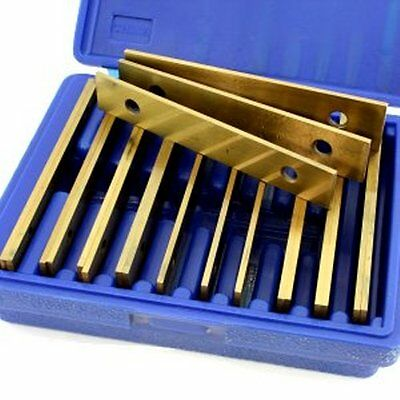 "20 pc Machinist Thin Parallel Jig Block Bar Tool Set ""Gold"" Titanium Coated"