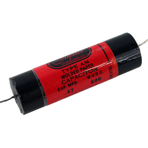 Jupiter Red Astron style capacitor, 0.47µf @ 600V