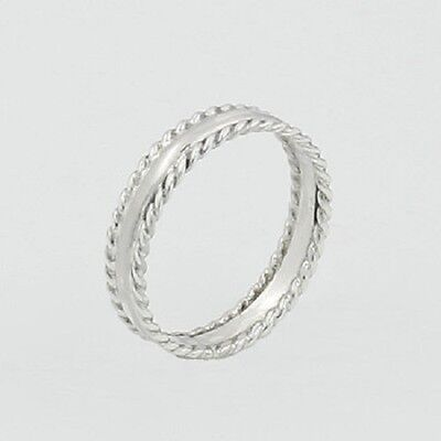 Midi silver rings knuckle ring genuine 925 sterling  4mm wide size 5us 5.5us new