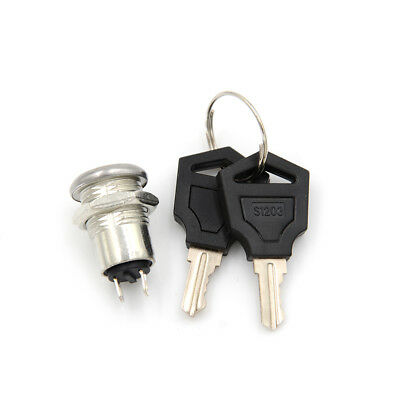 Onoff Metal Security Key Switch Lock Keys 2 Position Spst Jb