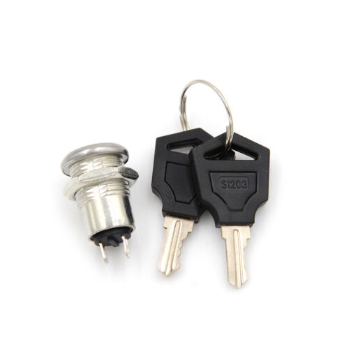 On/Off Metal Security Key Switch Lock + Keys 2 Position SPST BesNWUS@#