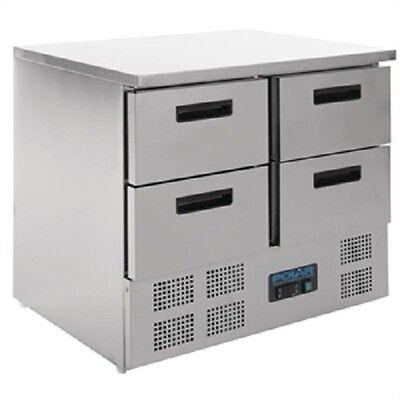 Polar 4 Drawer Compact Counter Fridge 240 Ltr - U638  Catering