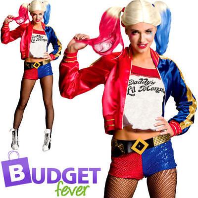 Harley Quinn Ladies Fancy Dress Suicide Squad Womens Comic Book Villain Costume - Comic Book Women Villains