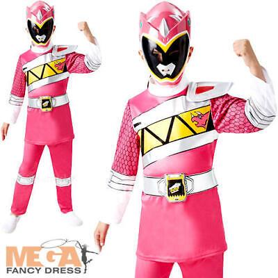 Deluxe Pink Dino Charge Power Ranger Girls Fancy Dress Superhero Childs - Deluxe Pink Power Ranger Kostüm