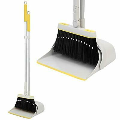 Jekayla Broom and Dustpan Set with Extendable Long Handle Upright and Lightwe...