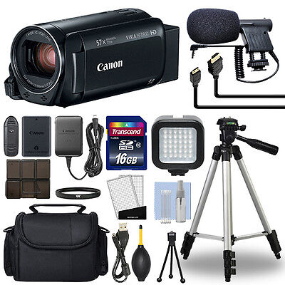 Canon VIXIA HF R800 Full HD Camcorder HFR800 Black 57x Advance Zoom+ 16GB Bundle