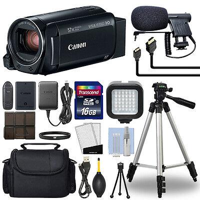 Canon VIXIA HF R800 Full HD Camcorder HFR800 Black 57x Advance Zoom+ 16GB Bundle