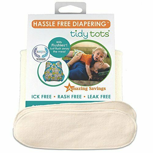 Tidy Tots Diapers Hassle Free 4-layer Organic Hemp Booster 2 Pack NB