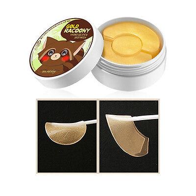 Under Eye Patches Korean Secret Key Gold Racoony Hydro Gel Eye Spot Patch 90P