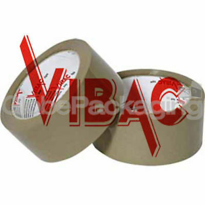 12 Rolls Of VIBAC X-Strong Brown Packing Packaging Tape