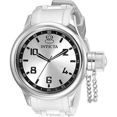 Invicta Men's 31214 Russian Diver Quartz 3 Hand Silver Dial Watch