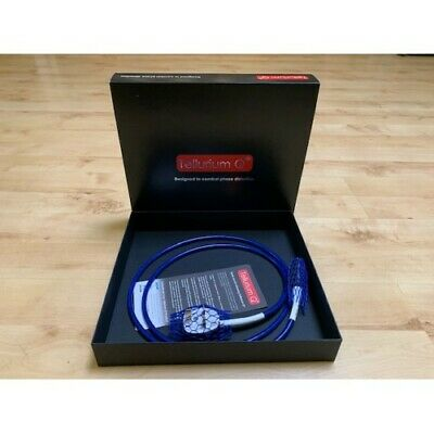 TELLURIUM Q ULTRA BLUE UK POWER CABLE x 1.5 METRE - NEW...