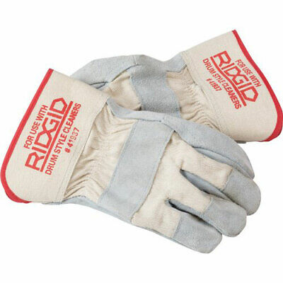Ridgid 41937 Durable Leather Drain Cleaning Work Gloves Pair