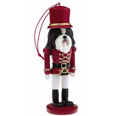 Shih Tzu Black Dog Toy Soldier Nutcracker Christmas Ornament