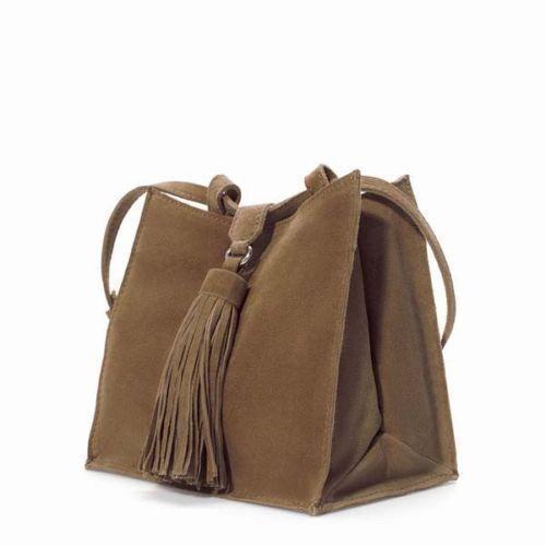 4c1024e82b0 Zara Suede Bag  Women s Handbags