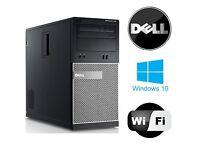 Cheap PC Dell Intel Core i5 2400 @ 3.10GHz Dell 390 Optiplex 4GB 500GB Win 10 Pro DVD