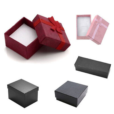 - Sponge Present Gift Box For Jewelry Packing Earring Ring Necklace Xmas Christmas