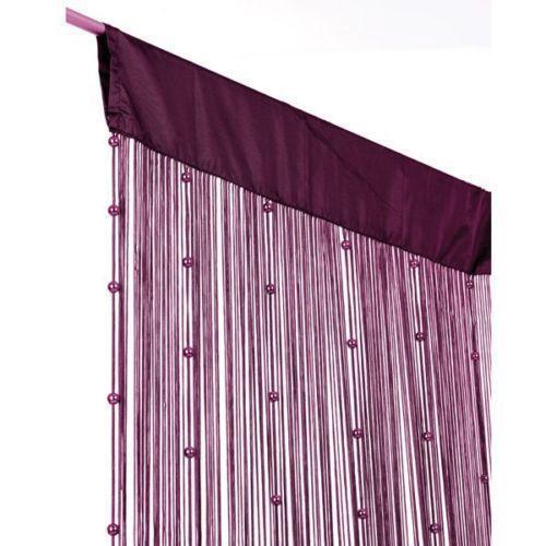 fadengardine mit perlen gardinen vorh nge ebay. Black Bedroom Furniture Sets. Home Design Ideas