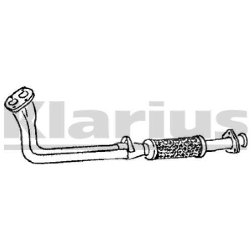 1x KLARIUS OE Quality Replacement Exhaust Pipe Exhaust For FIAT, LANCIA Petrol