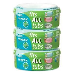 TOMMEE-TIPPEE-PACK-of-3-SANGENIC-COMPATIBLE-refill-CASSETTE-ultimate-brand-new