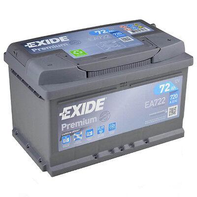 Exide Premium CARBONO EA722 72Ah Batería de coche repuesto 65Ah 70Ah 71Ah NEU
